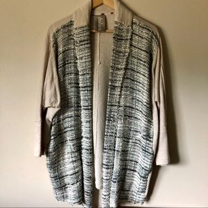 Dolan Left Coast Twinkle Tweed Open Drape Cardigan